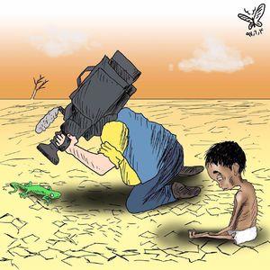 بیتوجهی رسانهها به کودکان یمنی +کاریکاتور