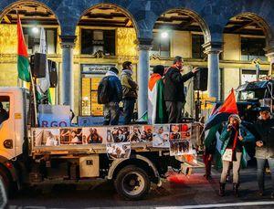 عکس/ تظاهرات ضد صهیونیستی در ایتالیا