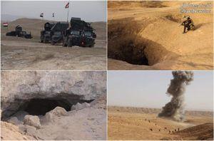 عکس/ منهدم کردن تونل داعش در کرکوک
