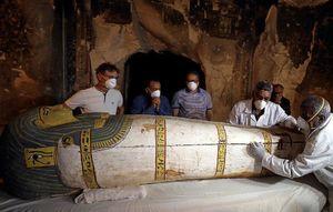 فیلم/ لحظه باز شدن تابوتی بعد از ۲۶۰۰سال