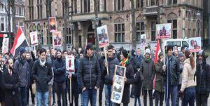 تظاهرات در هلند علیه جنایات آل سعود در یمن