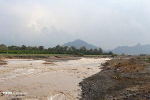 بارش باران و طغیان رودخانه ها در هرمزگان