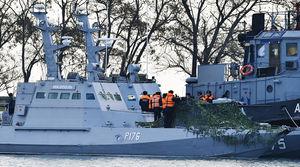 عکس/ سه کشتی اوکراینی که تحت تصرف روسها هستند