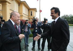 عکس/ سفر از پیش اعلام نشده امیر قطر به ترکیه