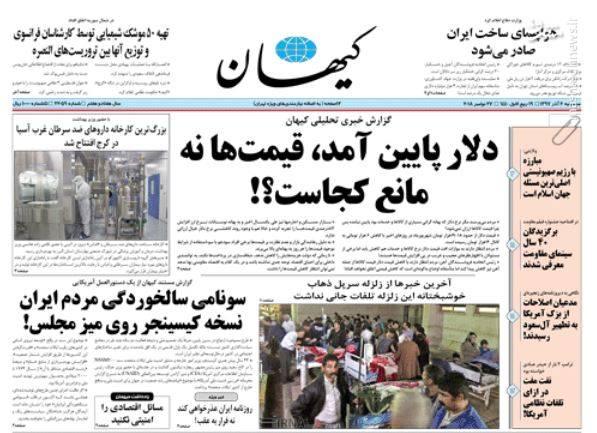 کیهان: دلار پایین آمد، قیمتها نه؛ مانع کجاست؟!