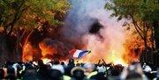 شعله آتش تظاهرات پاریس به اطراف کاخ ریاستجمهوری رسید +فیلم