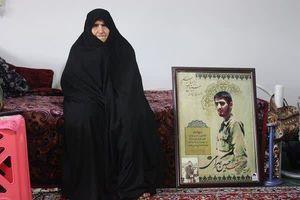 مادر شهید حسین بهرامی