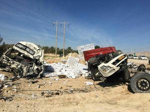 عکس/ تصادف مرگبار دو تریلر در بوشهر