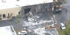 عکس/ سقوط مرگبار هواپیما در فلوریدا آمریکا