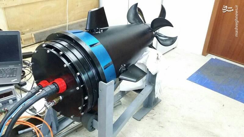 بخش پیشران از یک شناور زیر آبی بدون سرنشین با موتور BLDC