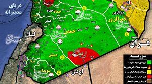 جزئیات حمله موشکی شب گذشته نیروهای آمریکایی به مواضع ارتش سوریه در منطقه التنف + نقشه میدانی