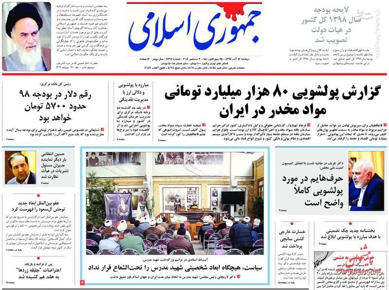 جمهوری اسلامی: گزارش پولشویی ۸۰هزار میلیارد تومانی مواد مخدر در ایران