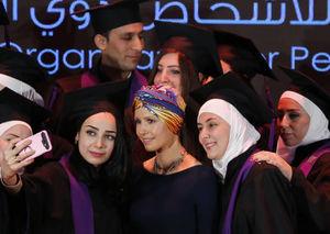 عکس/ همسر بشار اسد در مراسم جشن فارغ التحصیلی