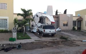 سقوط یک فروند هواپیمای کوچک در مکزیک