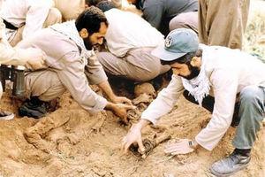 فیلم/ کشف پیکر مطهر یک شهید در روز میلاد امام حسن(ع)