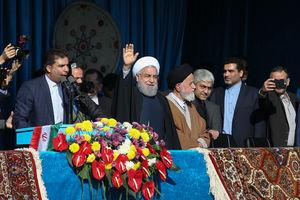 عکس/ سخنرانی روحانی در جمع مردم شاهرود