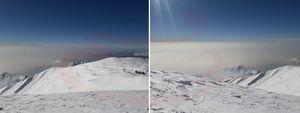 آلودگی هوای تهران از منطقه توچال تهران