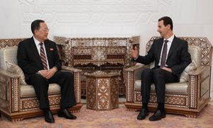 عکس/ دیدار وزیر امور خارجه کره شمالی با بشار اسد