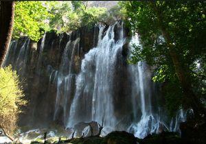 عکس/ آبشاری عریض در دل طبیعت چهارمحال بختیاری