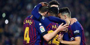 صعود بارسلونا در غیاب بزرگان با بردی پرگل در نیوکمپ