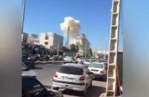 اولین تصاویر از انفجار خودرو بمب گذاری شده در چابهار