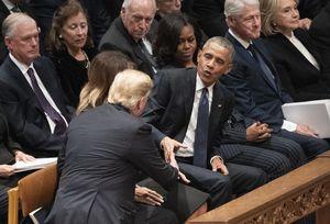 مراسم خاکسپاری بوش