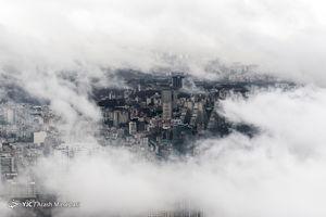 عکس/ تهران از فراز ابرها