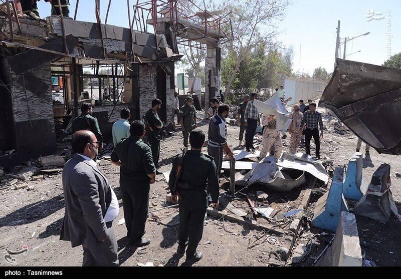 تصاویر ورودی ستاد فرماندهی ناجا بعد از عملیات تروریستی