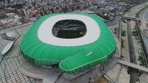 عکس/ استادیوم فوتبال به شکل تمساح!