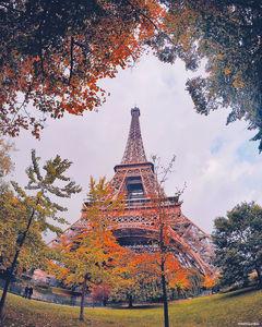 عکس/ چهره پاییزی برج ایفل
