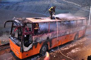 جزئیات حریق اتوبوس ولوو با ۴۳ سرنشین