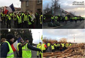 درگیریهای شدید میان پلیس و معترضان در شانزلیزه/ درخواست معترضان برای استعفای ماکرون +عکس و فیلم