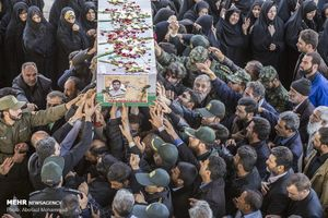 مراسم تشییع پیکر سروان ایرج صفاری شهید امنیت استان یزد
