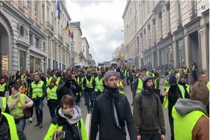 بازداشت ۴۰۰ نفر در اعتراضات جلیقه زردها در بروکسل