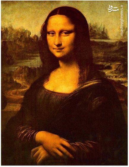 """تابلوی """"مونالیزا"""" که به لبخند ژکوند نیز شناخته میشود."""