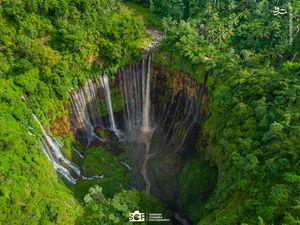 عکس/ آبشاری زیبا در اندونزی