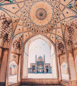 """عکس/ معماری بینظیر مسجد """"آقا بزرگ"""""""