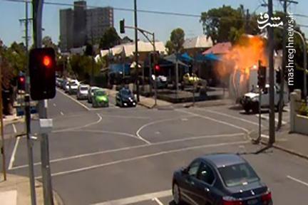 فیلم/ انفجار وحشتناک کامیونت در خیابان!
