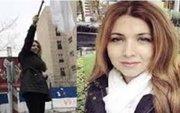 دختر خیابان انقلاب خواستار تحریم ایران شد +عکس