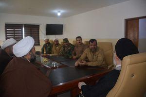 عکس/بازدید الحیدری از پادگان آموزشی حشد الشعبی