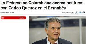 جزئیات مذاکره کلمبیا با کیروش در روزنامه مارکا