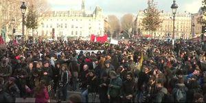 اعتراض دانشجویان فرانسوی در اعتراض به طرح ماکرون