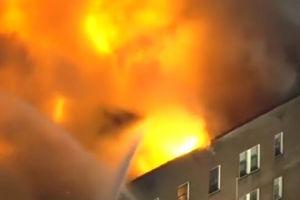 فیلم/ تخریب یک مجتمع در اثر آتش سوزی!