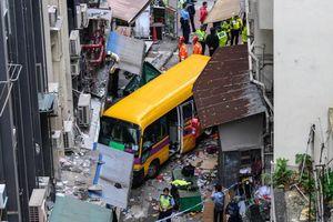 تصادف خونین اتوبوس مدرسه در هنگ کنگ