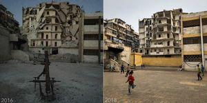 عکس/ بازگشت زندگی به  حلب