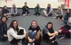 آموزش دفاع شخصی در آمریکا توسط یک زن مسلمان +فیلم