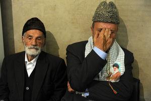 عکس/ حضور پدر شهید نصیری در دیدار امروز رهبری
