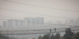 هوای تهران در یک قدمی ناسالم شدن