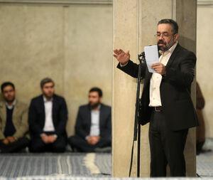 فیلم/مداحی محمود کریمی در حضور رهبرانقلاب
