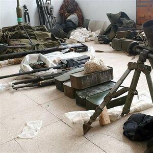 عکس/ کشف انبارسلاح تروریستها در درعا